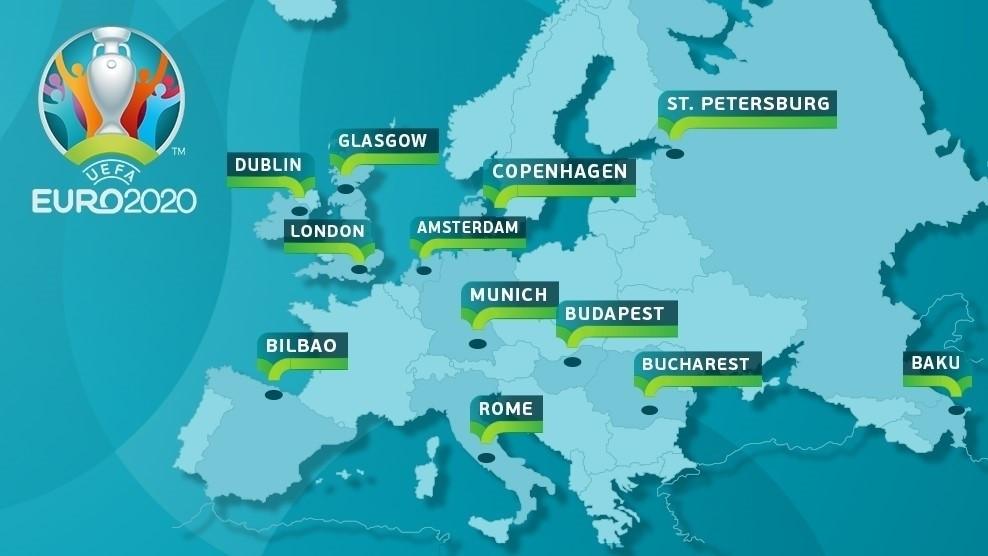 EURO2020(ユーロ2020)の開催予定地